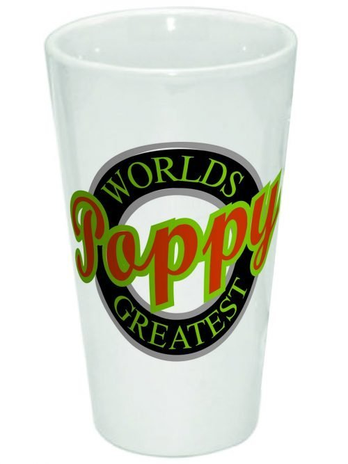 Worlds Greatest Poppy 17oz Latte Mug