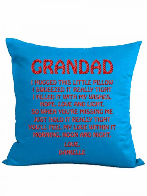 """We hugged this little pillow…"" cushion + insert"
