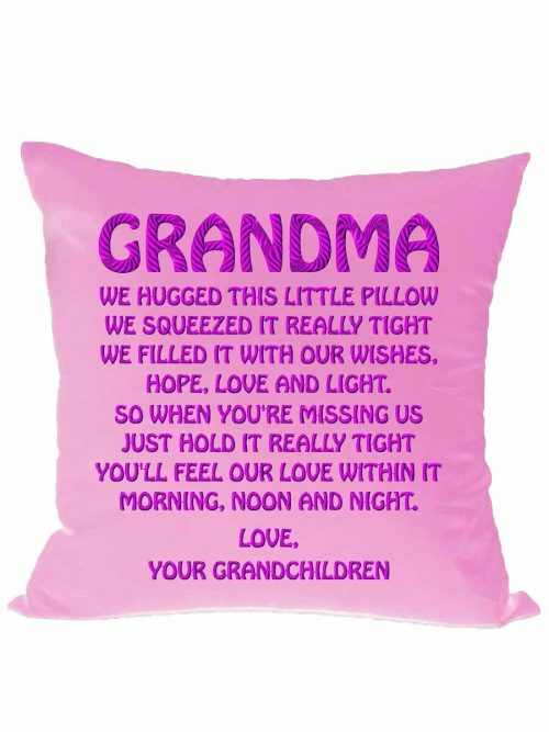 """We hugged this little pillow…"" cushion + insert"