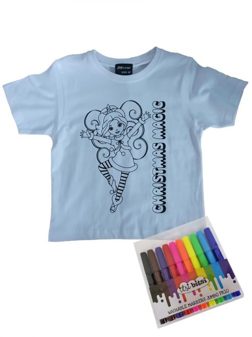 Christmas colour-in T-shirt – Christmas Magic