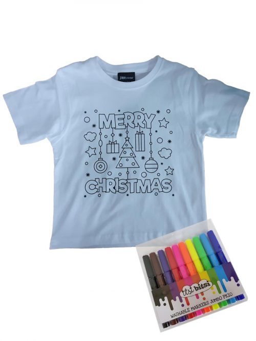Christmas colour-in T-shirt – Merry Christmas