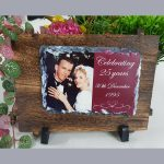 Photo Slate with timber frame – 11x15cm