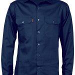 Cotton Drill Work Shirt – Long Sleeve