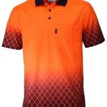 Hivis Sublimated Metal Mesh Polo