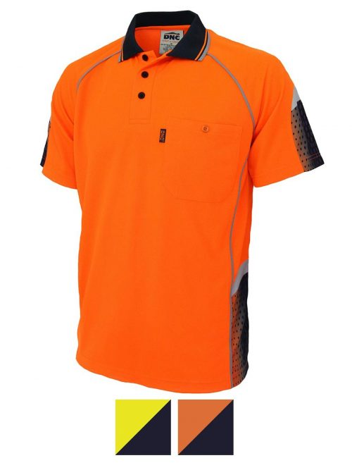 DNC Hivis Sublimated Galaxy Polo- 3564