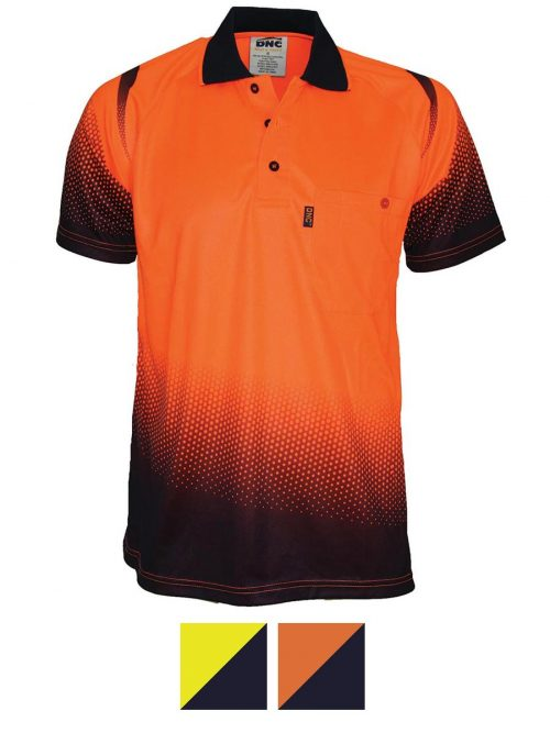 Hivis Sublimated Ocean Polo