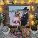 Photo Slate with timber frame – 28x30cm