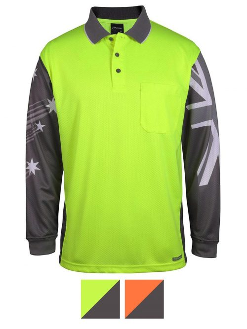 JB's Wear Long Sleeve Southern Cross Polo – 6HSCL