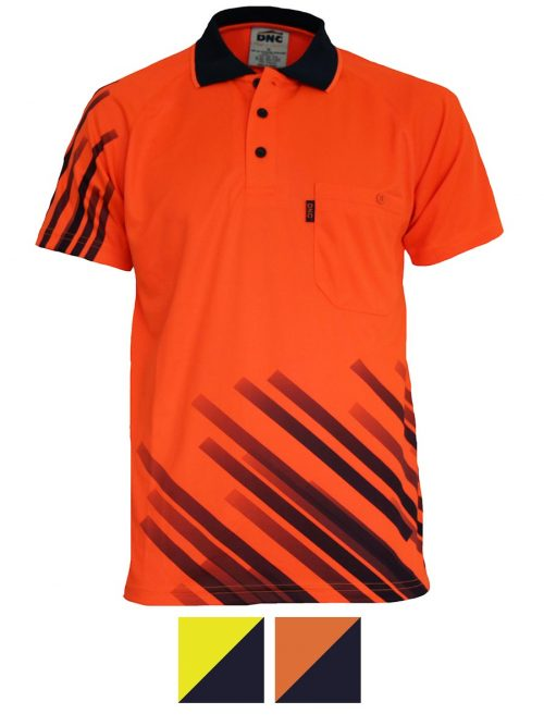 DNC Hivis Sublimated Stripe Polo – 3565