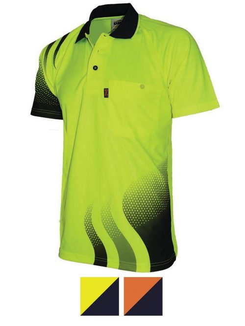 Hivis Sublimated Wave Polo
