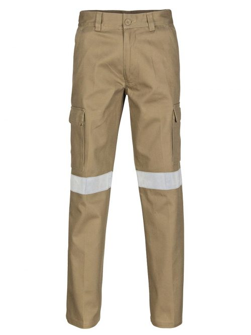 DNC Cotton Drill Cargo Pants With 3M R/Tape – 3319