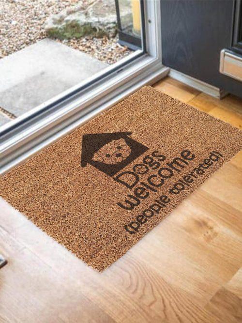 Door Mat – Dogs welcome
