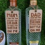 """""""I may be the reason you drink"""" Bottle Gift Tag"""